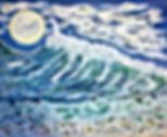 "#01 Swept Up Mixed Media Painting 30x24"""
