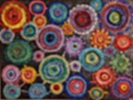 """Circular Motion Mixed Media Painting 24x18"""""""