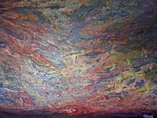 "Sky Series Sunset 01 Mixed Media Painting 24x18"".jpg"