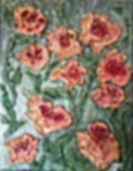 """Spring Blossoms Mixed Media painting on 11x14"""" gallery-wrap canvas"""