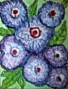 """Purple Patch Mixed Media Painting on 11x14"""" galley wrap canvas."""