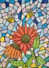 Bees and Flowers Mosaic #0-579.jpg
