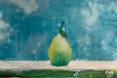 PEAR IN THE RAIN