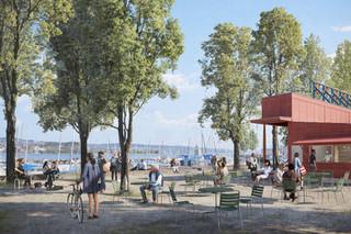 Neugestaltung der Promenade am Hafen Enge