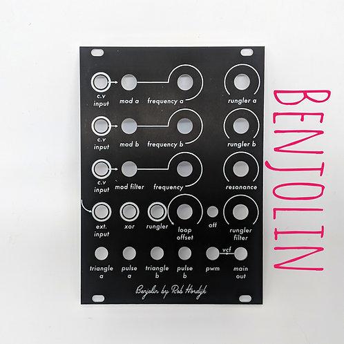 Benjolin Panel - Matte Black Aluminum