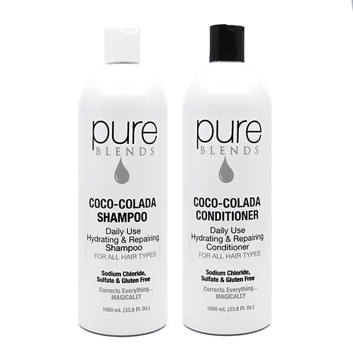 Pure Blends Coco-Colada Cleanse & Condition Liter Duo