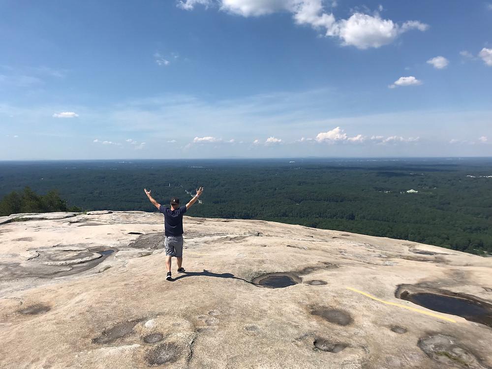My brother on top of Stone Mountain in Georgia, USA.