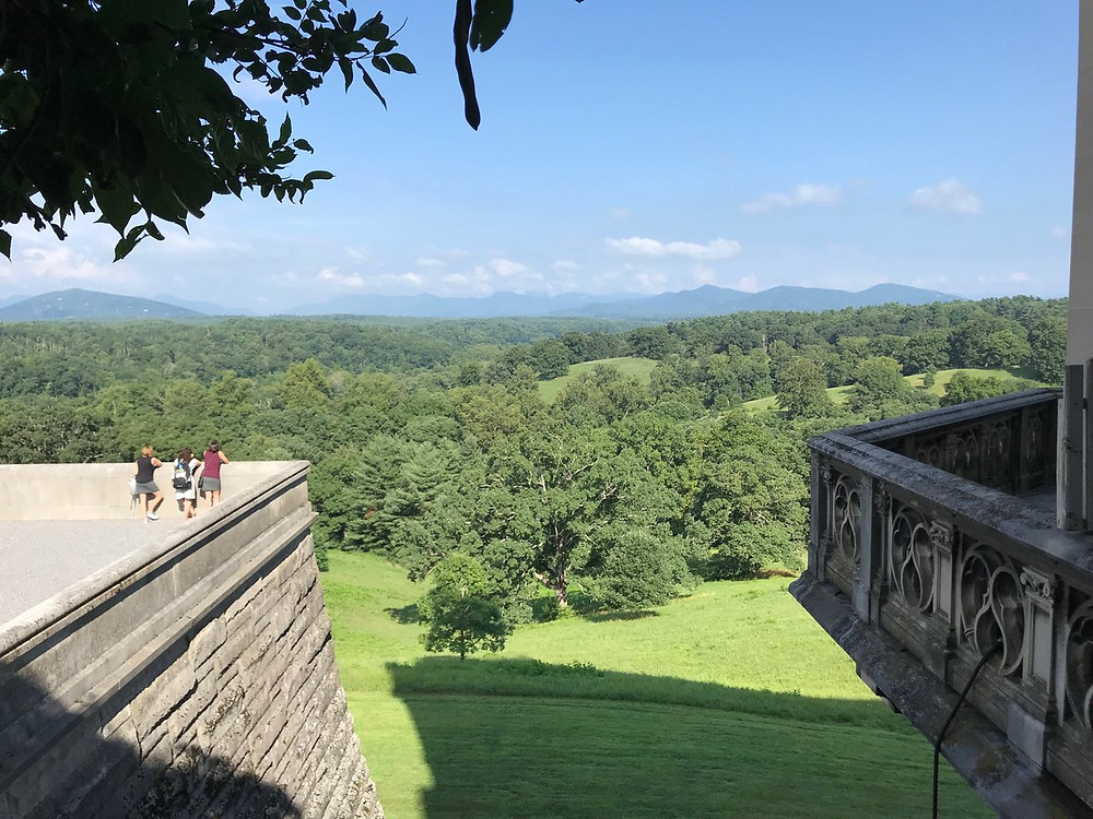 A view from the rear of the Biltmore home.