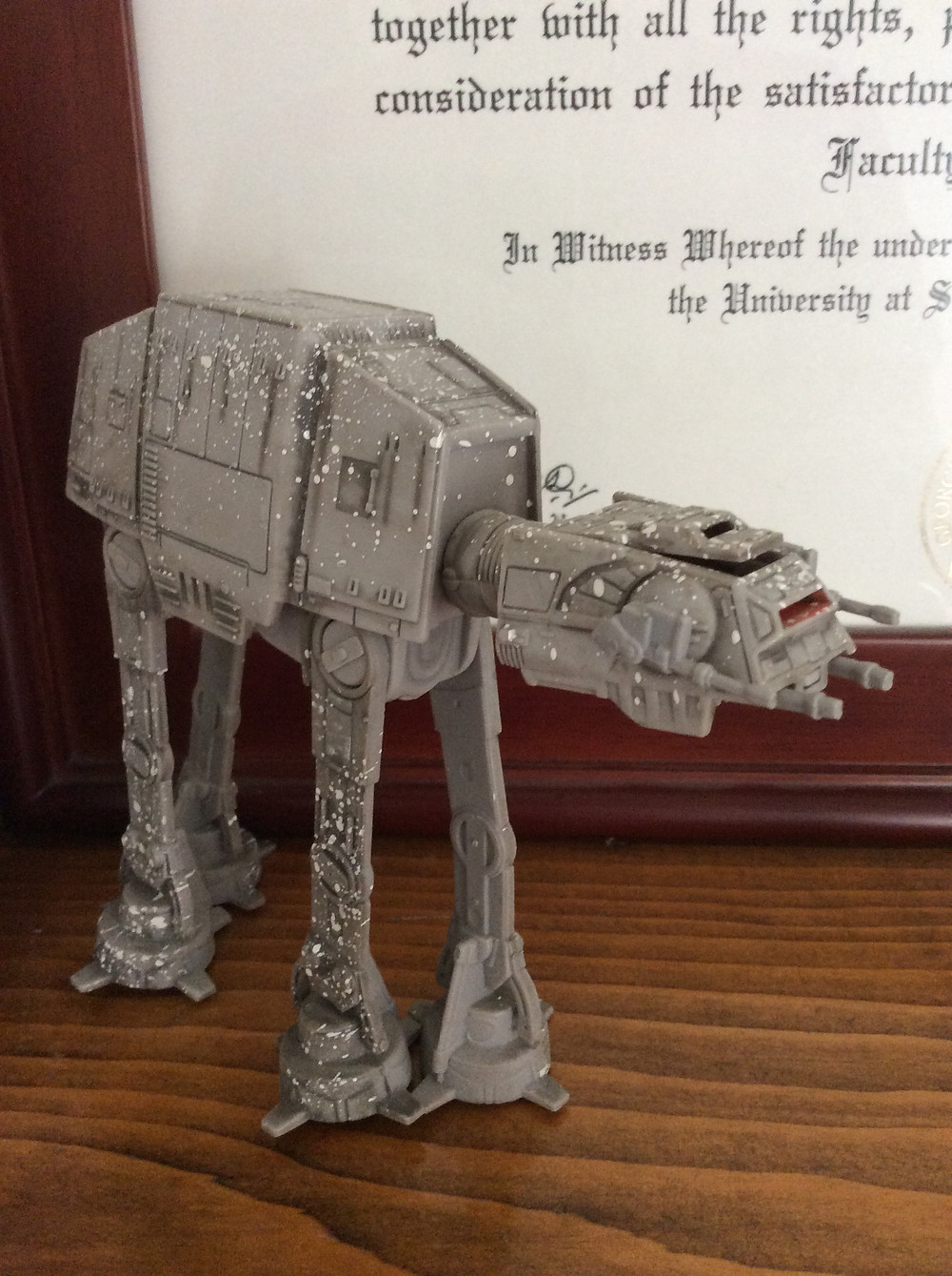 AT-AT guarding my diploma in my office