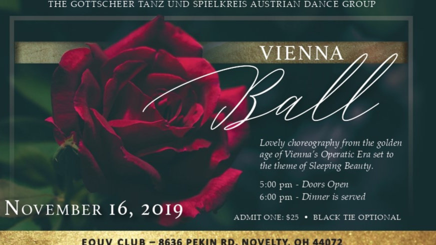 Wienerabend (Vienna Ball)Youth Ticket - ages 12 and under