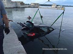 Ανέλκυση οχήματος από πτώση στην θάλασσα