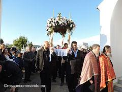 Περιφορά επιταφίου στο κοιμητήριο Πρέβεζας
