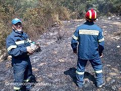 Πυρκαγιά στην Καμαρίνα Ζαλόγγου