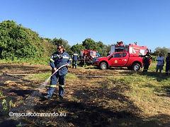 """Συνδρομή σε κατάσβεση πυρκαγιάς στην θέση """"Σεντόνια"""""""