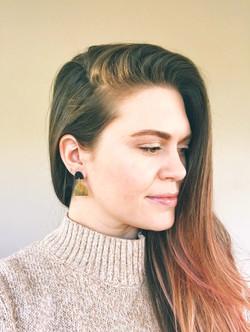 Orbit drop earrings