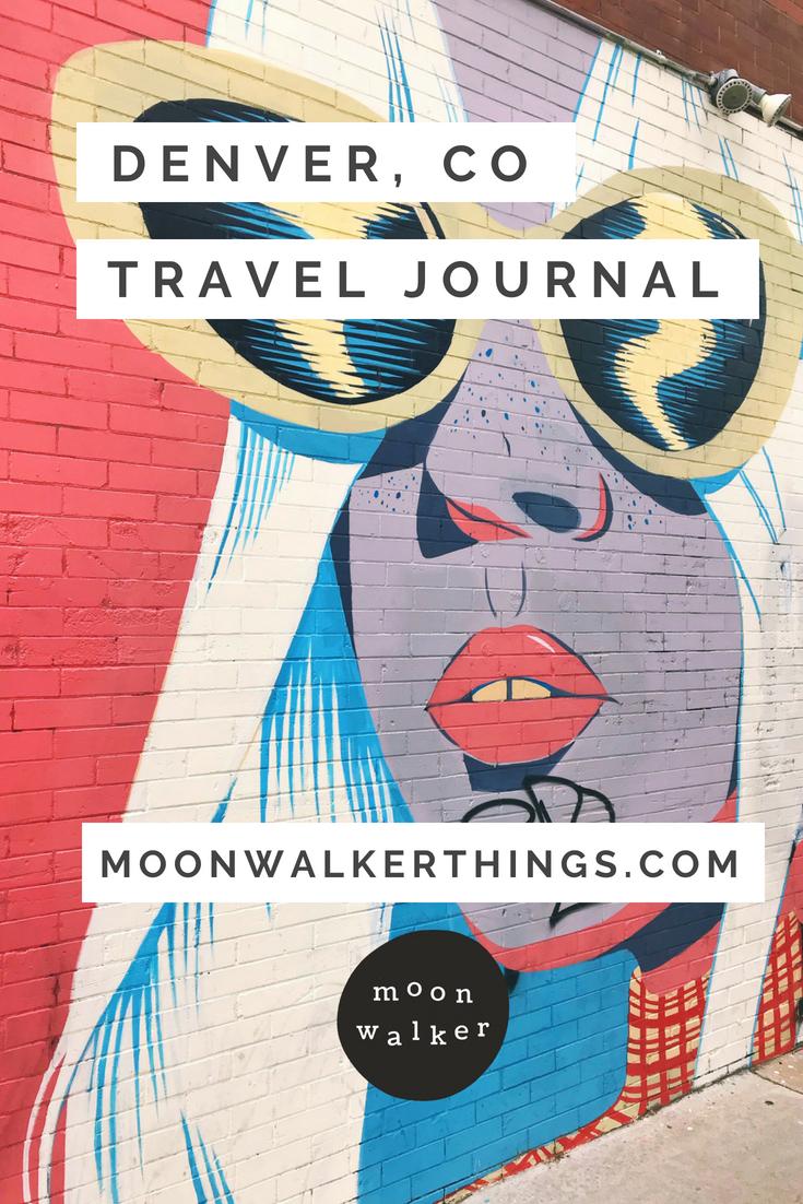 Denver Colorado Travel Journal Guide by Moonwalker Things
