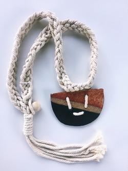 Ceramic macrame necklace
