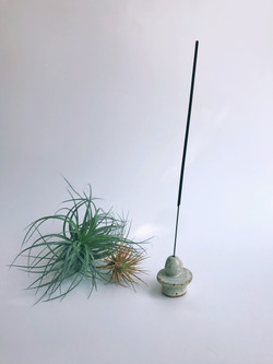 geometric sculpture incense holder