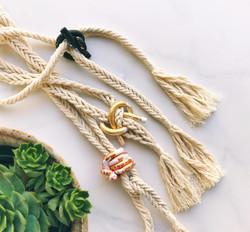 Knot macrame necklaces