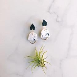 Geometric clay earrings
