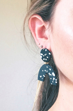 clay arc drop earring