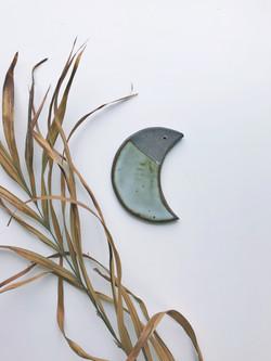 ceramic moon incense holder