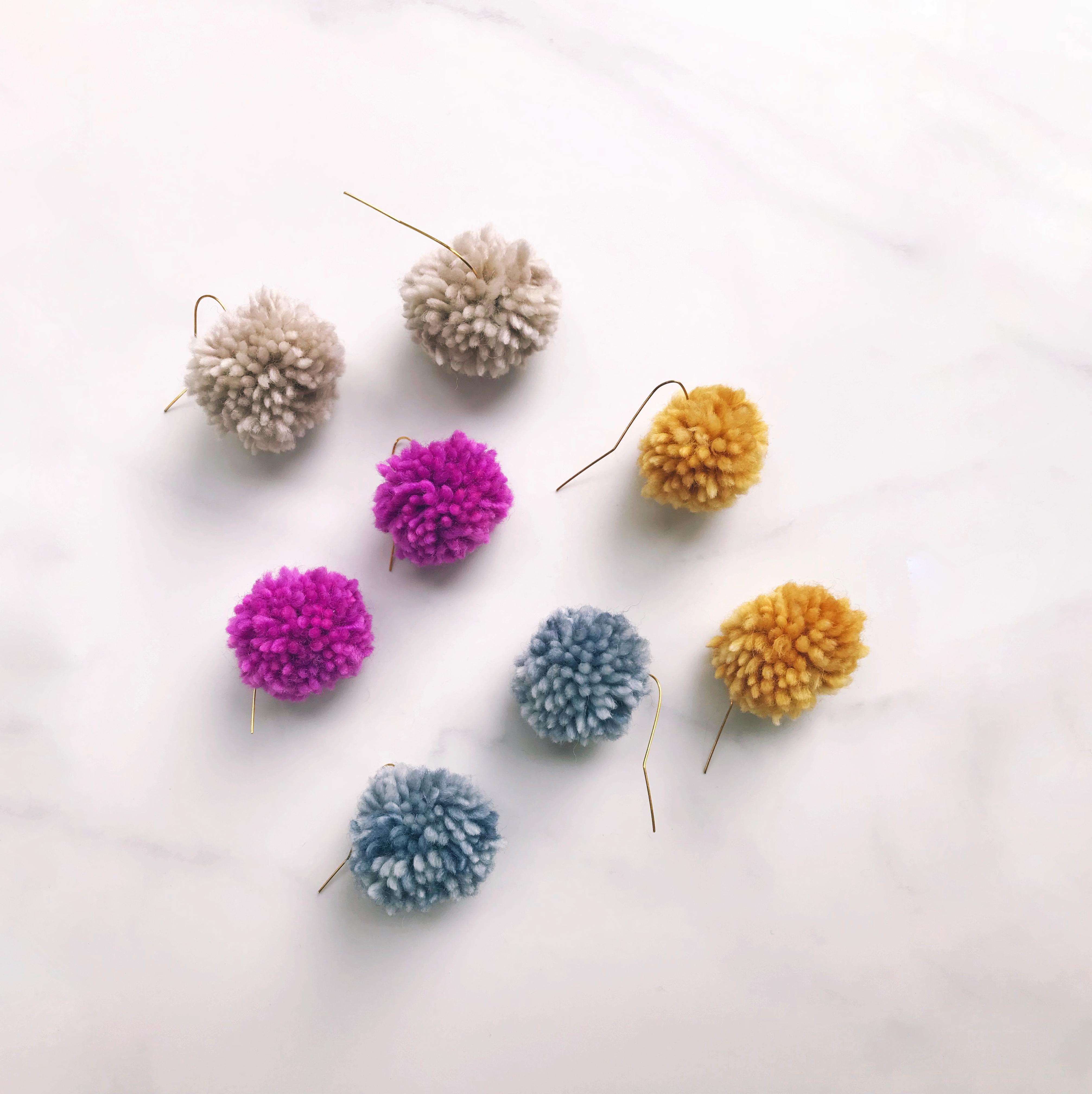 handmade wool pom poms