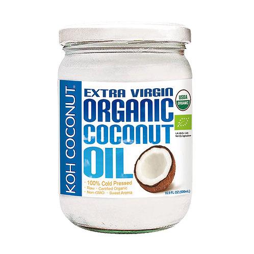 酷椰嶼100% 冷壓初榨有機椰子油 500ml