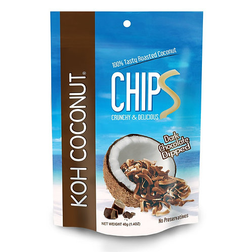 Coconut Chips Dark Chocolate Dipped 40g (1.4oz) Pouch