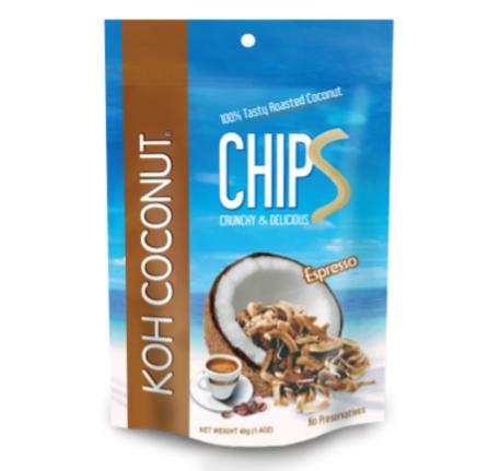 Coconut Chips Espresso 40g (1.4oz) Pouch