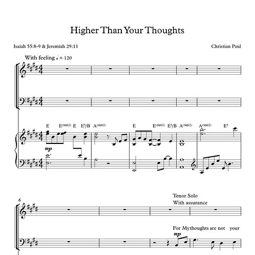 Higher Than Your Thoughts (Performing Bundle)