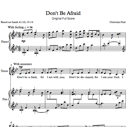 Don't Be Afraid (Performance Bundle)