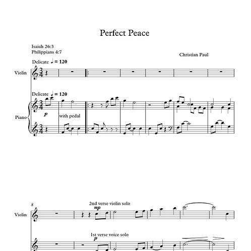 Perfect Peace (Performance Bundle)