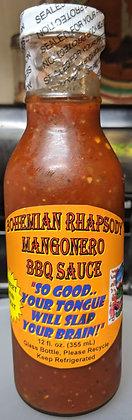 BR MangoNero BBQ Sauce 12oz.(Orange/Skull Label)