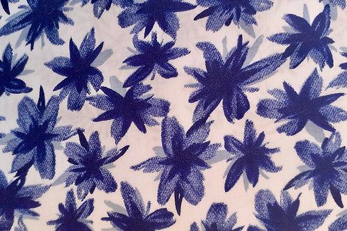 Tela Flores Azules
