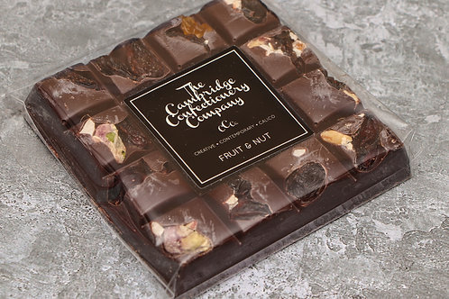 The Cambridge Confectionery Company Dark Fruit & Nut Chocolate Sqaure