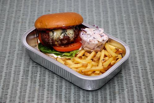 Butchers's Black and Blue Steak Burger
