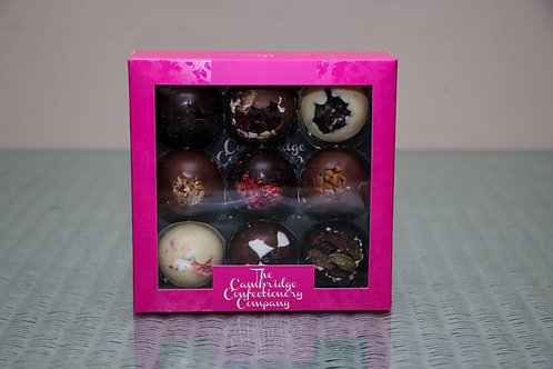 The Cambridge Confectionery Company 9 Luxury Solid Chocolate Domes 160g