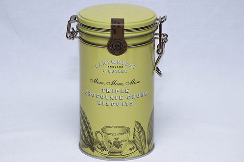 Cartwright & Butler Triple Chocolate Chunk Biscuits Tin
