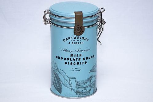 Cartwright & Butler Milk Chocolate Chunk Biscuits Tin