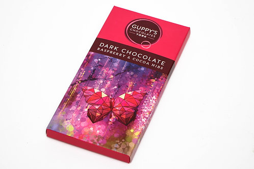 Guppy's Dark Chocolate Raspberry & Cocoa Nibs