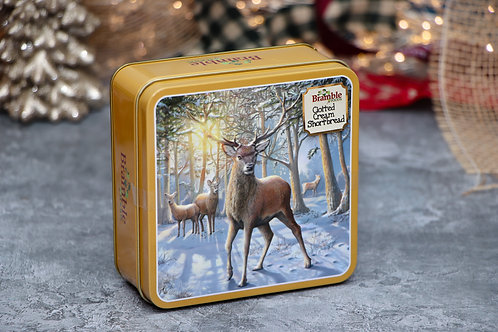 Bramble Foods Small Deer Clotted Cream Shortbread Tin