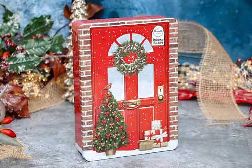 Bramble Foods Xmas Door Tin with Assorted Biscuits