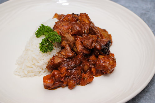 Diced Lamb Shoulder with Moroccan Tagine Sauce (excluding rice) see further info