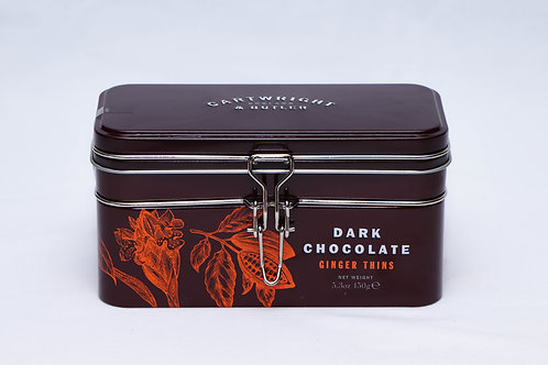 Cartwright & Butler Dark Chocolate Ginger Thins Tin