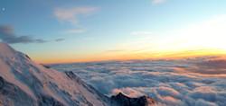 Sunset au Mont-Blanc