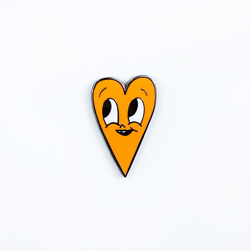 Neon Orange Heart by Chris Uphues