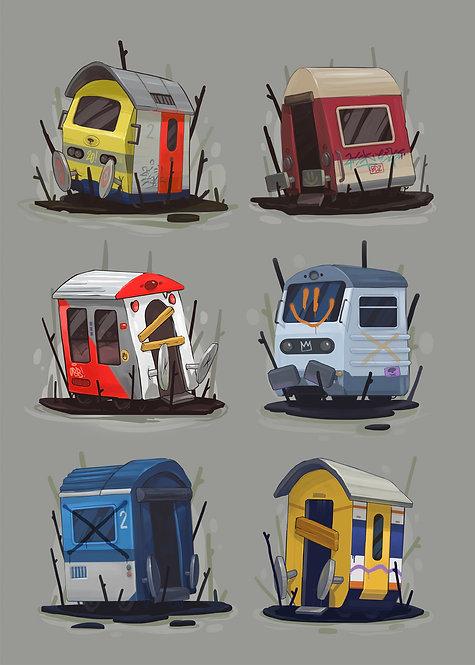 Trainspotting by Arsek & Erase