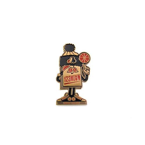 Mister Card Mascot Pin by 123 Klan