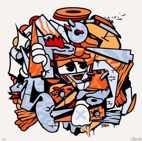 Mix Mash Up Orange by 123 Klan